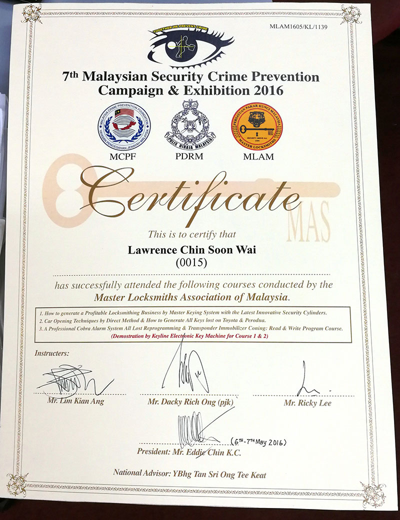 7th Malaysian Security Crime Prevention Campaign & Exhibition 2016